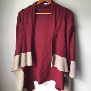 41 Hawthorn red and cream cashmere sweater size s